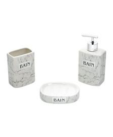 Conjunto para banheiro 03 pcs de ceramica marble