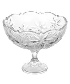 Fruteira com pé perseus cristal bohemia
