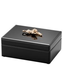 Porta-joias vidro leopard preto lyor