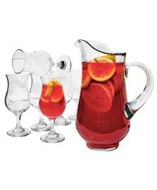 Jogo 06 taças e jarra vidro sangria libbey