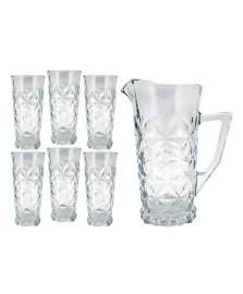 Jogo de jarra e 06 copos vidro star verre mimo