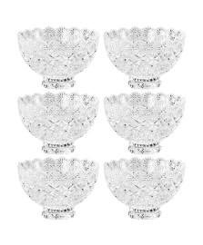 Jogo 06 bowls com pé cristal lyor