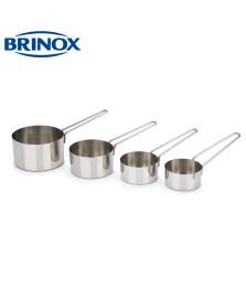 Jogo de medidores inox 4 peças top pratic brinox