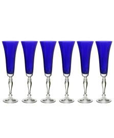 Jogo 06 taças champ. 180 ml victoria azul bohemia