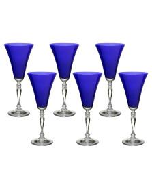 Jogo 06 taças água 300 ml victoria azul bohemia