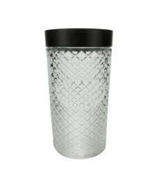Pote vidro borossilicato com tampa preta label 11x28cm bon gourmet