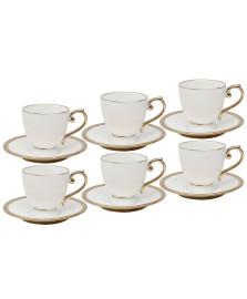Jogo 06 xícaras para chá porcelana paddy wolff