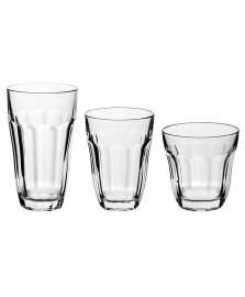 Jogo 18 copos vidro baroque pasabahce