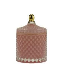Bomboniere decorativo vidro sodo-calcico rosa 9x13cm royal decor