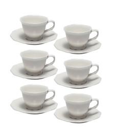 Jogo 06 xícaras para café 100 ml porcelana wolff