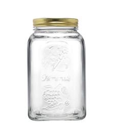 Pote de vidro c/ tampa metal 1500 ml homemade