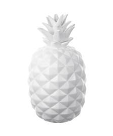 Abacaxi decorativo 37 cm cerâmica branco lyor