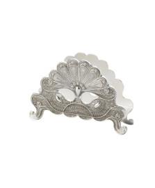 Porta guardanapo silver plated pavão lyor