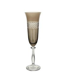 Taca p/champanhe angela lapidada em cristal ecol.190ml a24,5c/fume