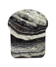 Descanso de panela decorativo em ceramica-cinza  l25xp20