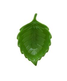Folha decorativa ceramica verde 20x14x6cm royal decor .