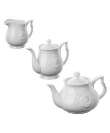 Jogo para chá e café 03 peças porcelana queen lyor