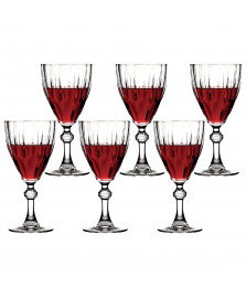 Jogo 06 taças vinho 300 ml diamond pasabahce