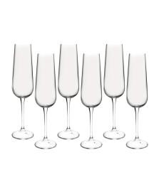 Jogo 06 taças champagne 220 ml amundsen bohemia