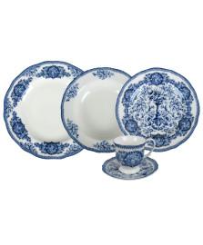 Jogo de jantar 30 peças english blue lhermitage