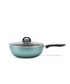 Panela wok 28 cm chilli turquesa brinox