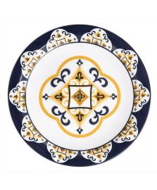 Prato raso cerâmica floreal são luís oxford
