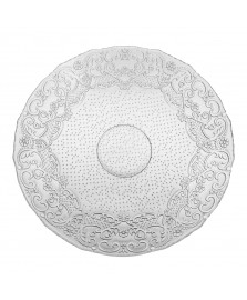 Prato 40 cm vidro transparente lace