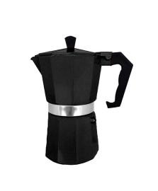 Cafeteira italiana para 06 cafezinhos preta mimo