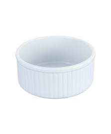 Refratario redondo 21 cm branco mimo