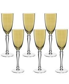 Jogo 06 taças champagne lustrada ambar home co