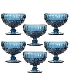 Jogo 06 taças sobremesa 310 ml flash azul lyor