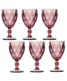 Jogo 06 taças água 260 ml diamond lilás lyor