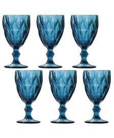 Jogo 06 taças água 260 ml diamond azul lyor