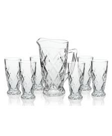 Jogo de jarra e 06 copos vidro hauskraft