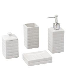 Jogo para banheiro 04 peças ceramica space