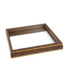 Bandeja espelhada 27 x 27 cm bisote woodart