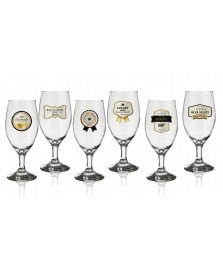 Jogo 06 taças cerveja premium gold h. martin