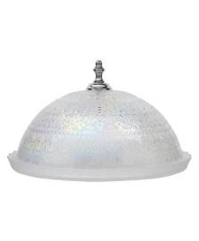 Prato para bolo com cúpula vidro krista iris