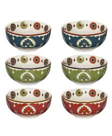 Jogo 06 bowls porcelana royal suzani lhermitage