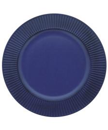 Sousplat polipropileno listras azul marinho mimo