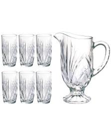 Jogo de jarra e 06 copos vidro palais