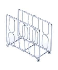 Porta guardanapo ferro cromado 13.5x11 cm lyor