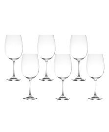Jogo 06 taças para vinho 640 ml barbara bohemia