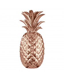 Abacaxi decorativo cerâmica 24.5 cm cobre mart
