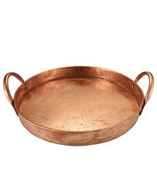 Bandeja redonda em metal 41 cm cobre mart