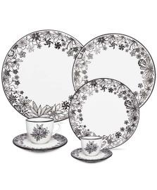 Jogo jantar 30 pçs porcelana floresta negra oxford