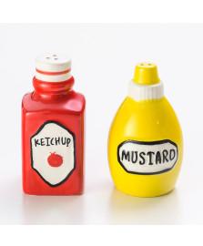 Saleiro e pimenteiro ketchup e mostarda lyor