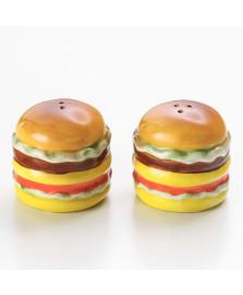 Saleiro e pimenteiro hambúrguer porcelana lyor