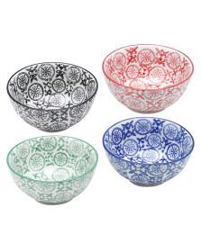 Jogo 04 bowls redondos porcelana lyor