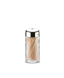 Paliteiro 50 ml vidro e aço inox parma brinox